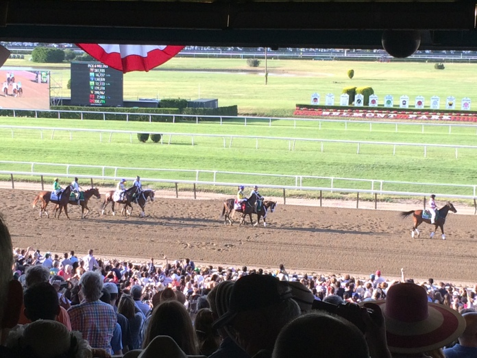 American Pharaoh and Co. warming up.
