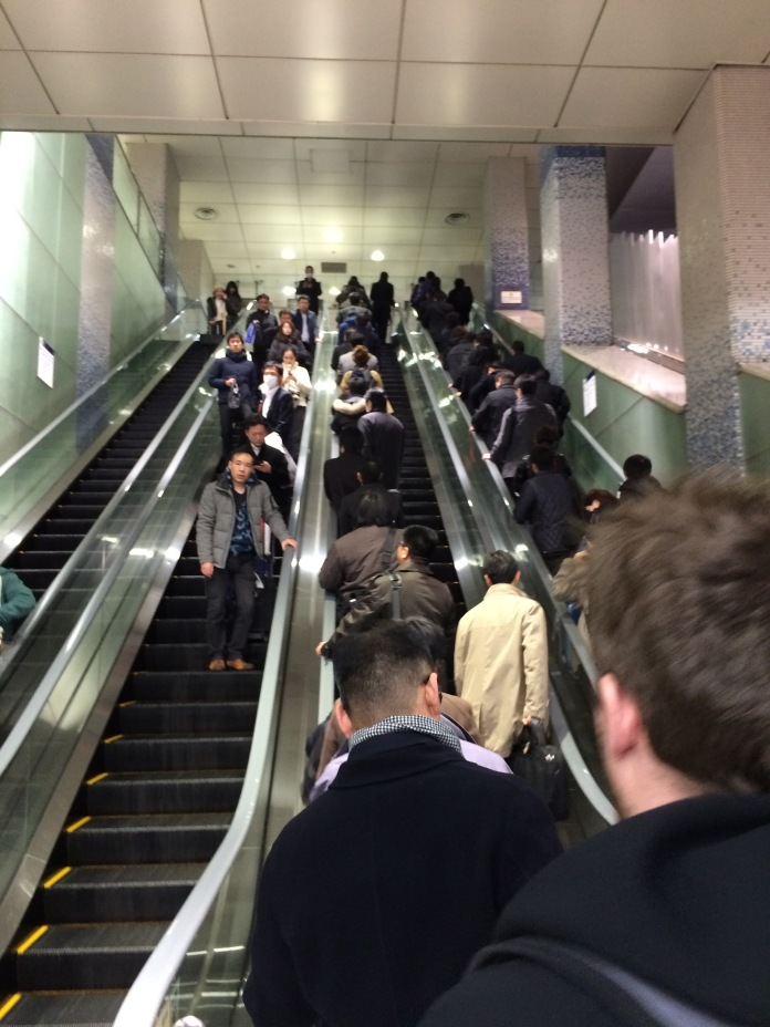 The public transportation manners were shocking. Look at that perfect escalator behavior.